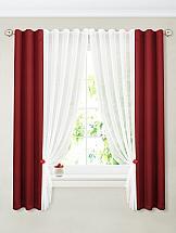 Фото - Комплект штор ТомДом Терей (бордо) шторы для комнаты реалтекс комплект штор 030 бордо