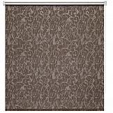 купить Рулонная штора ТомДом Миниролл Блэкаут Муар (коричневый) онлайн