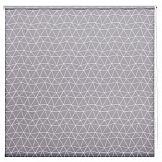 Рулонная штора ТомДом Миниролл Геометрическая сетка (серый) штора рулонная сити 60х175 см цвет серый