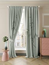 Комплект штор ТомДом Бамбик (зеленый)