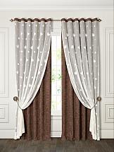 Комплект штор ТомДом Тарон (коричневый) портьеры ранди коричневый