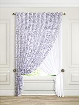 Комплект штор ТомДом Лаванди комплект штор zlata korunka ажур голубой на ленте 2 шторы 147 х 267 см тюль 294 х 267 см