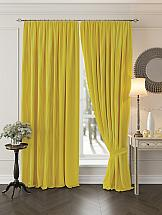Комплект штор ТомДом Миссилис (желтый) комплект штор томдом перри желтый