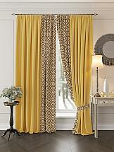 Комплект штор ТомДом Луиви (желтый) с подхватами комплект штор томдом перри желтый