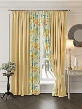 Комплект штор ТомДом Перри (желтый) комплект штор томдом перри желтый
