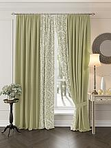 Комплект штор ТомДом Риджин (зеленый) комплект штор томдом этельн зеленый