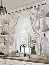Комплект штор ТомДом Форривиль комплект штор тд текстиль шик на ленте цвет оранжевый высота 180 см 92528