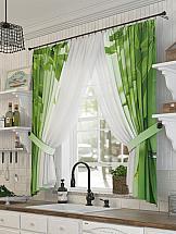 Комплект штор ТомДом Бамбикс комплект штор тд текстиль шик на ленте цвет оранжевый высота 180 см 92528