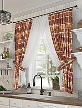 Комплект штор ТомДом Шотти комплект штор тд текстиль шик на ленте цвет оранжевый высота 180 см 92528