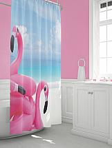Шторы для ванной ТомДом Фланси шторы и карнизы для ванной fototende шторы для ванной yvette 145х180