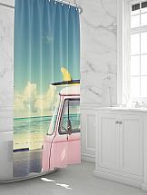 Шторы для ванной ТомДом Слэр шторы и карнизы для ванной fototende шторы для ванной yvette 145х180