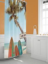 Шторы для ванной ТомДом Эриял шторы томдом фотошторы золотое поле