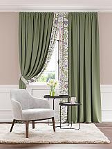 Комплект штор ТомДом Мэлод (зеленый)