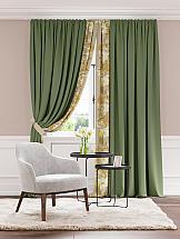 Комплект штор ТомДом Лорель (зеленый)