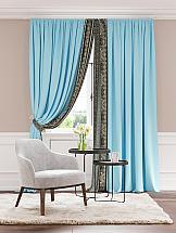 Комплект штор ТомДом Бэлиор (голубой) комплект штор томдом сарада золотой с подхватами