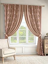 Комплект штор ТомДом Фирто (розово-коричневый) комплект штор томдом элонар коричневый