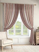 Комплект штор ТомДом Тисил (розово-коричневый) комплект штор томдом пьерио коричневый