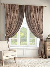 Комплект штор ТомДом Ньюбил (коричневый) комплект штор томдом карас мятно коричневый