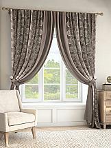 Комплект штор ТомДом Крэвис (серо-коричневый) комплект штор томдом карас мятно коричневый