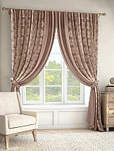 Комплект штор ТомДом Крэвис (коричневый) комплект штор томдом пьерио коричневый