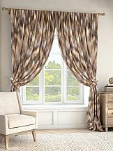 Комплект штор ТомДом Рэмил (коричневый) комплект штор томдом карас мятно коричневый