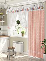 Комплект штор ТомДом Лематин (розовый)