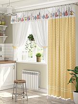 Комплект штор ТомДом Лематин (желтый)