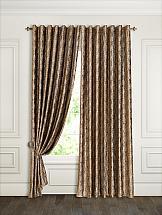 Комплект штор ТомДом Дафур (коричневый) портьеры ранди коричневый