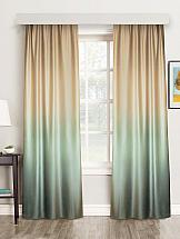 Комплект штор ТомДом Градбах (мятно-золотой) комплект штор томдом карас мятно коричневый