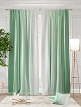 Комплект штор ТомДом Ланджит (зеленый) комплект штор томдом этельн зеленый