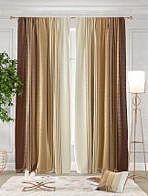 Комплект штор ТомДом Ланджит (коричневый)