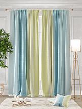 Комплект штор ТомДом Ланджит (оливково-голубой)