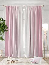 Комплект штор ТомДом Ланджит (розовый) шторы для комнаты tomdom комплект штор агно розовый 260 см