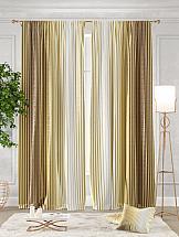 Комплект штор ТомДом Ферти (золотой)