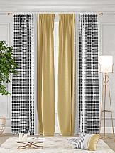 Комплект штор ТомДом Эджи (желтый) комплект штор томдом перри желтый