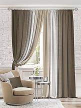 Комплект штор ТомДом Берни (темно-коричневый) комплект штор томдом элонар коричневый