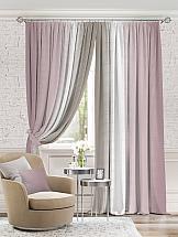 Комплект штор ТомДом Берни (Пыльно-розовый). Подшит: 260 см фотошторы сирень чайные поля фшст001 13543 розовый 260 х 150 см 2 шт