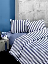 Фото - Постельное белье ТомДом Мелан (голубой) постельное белье этель кружева комплект 2 спальный поплин 2670978