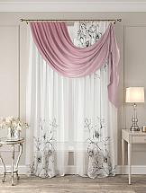 фотошторы мартекс комплект шторы дентелле голд 150 270 2 тюль 150 270 2 Тюль ТомДом Рикон (розовый)