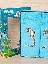 Комплект полотенец ТомДом Тикири (бирюзовый) полотенца подушкино полотенце вита цвет голубой 50х90 см 70х140 см