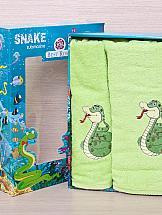 Комплект полотенец ТомДом Тикири (салатовый) полотенца подушкино полотенце вита цвет голубой 50х90 см 70х140 см