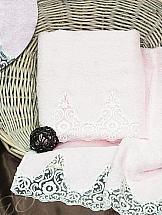 Комплект полотенец ТомДом Тревико (розовое)