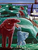 Постельное белье ТомДом Лев постельное белье король лев 3d полисатин