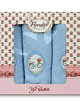 Комплект полотенец ТомДом Фельтре (голубой)