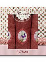 Комплект полотенец ТомДом Фельтре (красный) цены