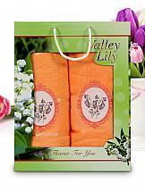 купить Комплект полотенец ТомДом Арона (оранжевый) дешево