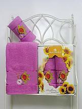 Комплект полотенец ТомДом Панни (фиолетовый)