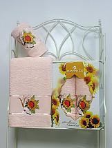 Комплект полотенец ТомДом Панни (нежно-розовый) стоимость