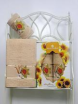 Комплект полотенец ТомДом Панни (песочный)