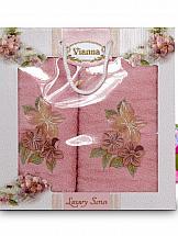 Комплект полотенец ТомДом Арианова (розовый)